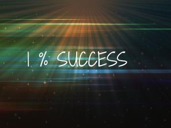 1% success
